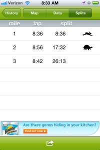 Endomondo report after this morning. Thanks to the nig downhill on 11th Street for the quick first mile.