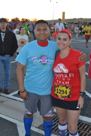 Joe and I before the race