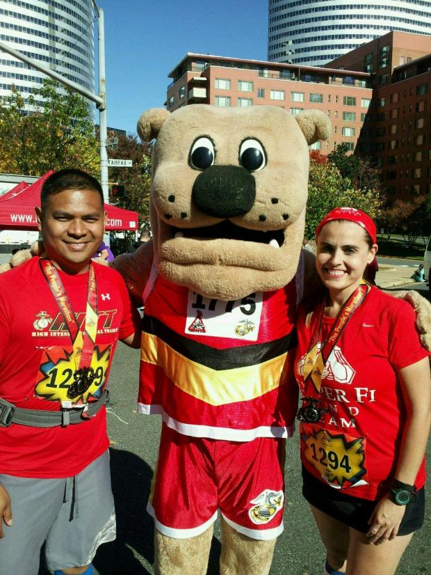 With Miles, the race mascot